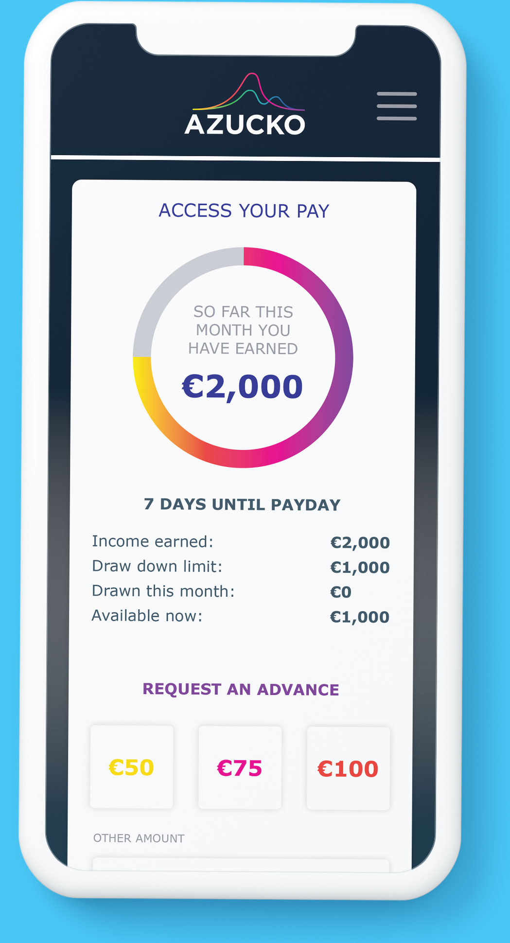 Access-Your-Pay-Blue-Background